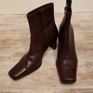 Diba Leather Ankle Boot Merlot 8.5